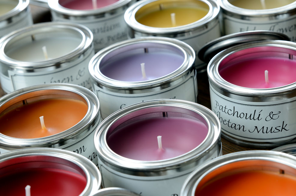 Paint Pot Candles Banner