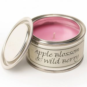 Apple Blossom and Wild Berry Paint Pot Candle