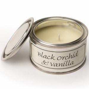 Black Orchid and Vanilla Paint Pot Candle