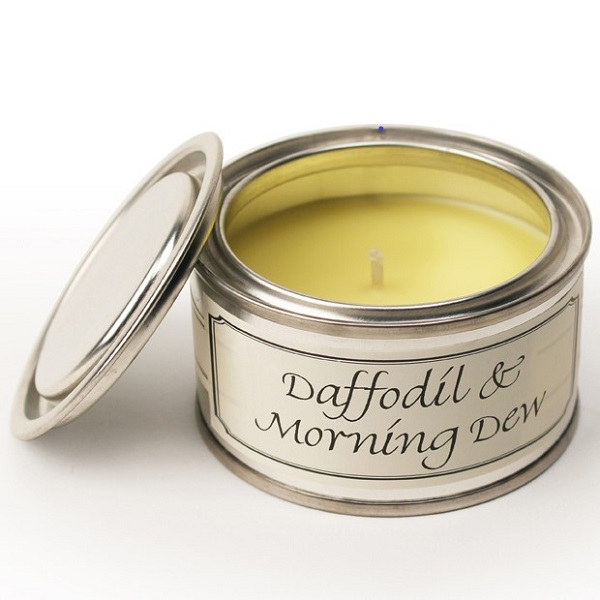 Daffodil and Morning Dew Paint Pot Candle
