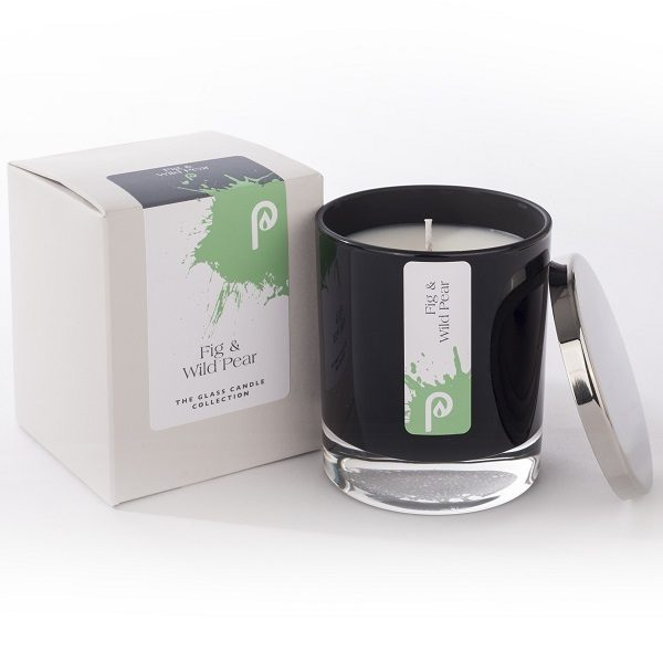 Fig & Wild Glass Candle Collection Black Glass