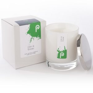 Gin and Tonic Glass Candle Collection White Glass
