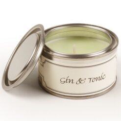 Gin and Tonic Paint Pot Candle. Light Green