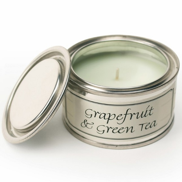 Grapefruit and Green Tea Paint Pot Candle