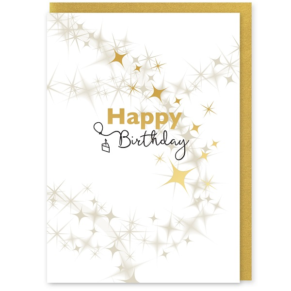 Happy Birthday Greetings Card and Envelope