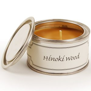 Hinoki Wood Paint Pot Candle