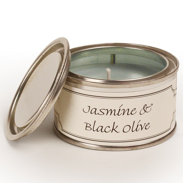 Jasmine and Black Olive Paint Pot Candle