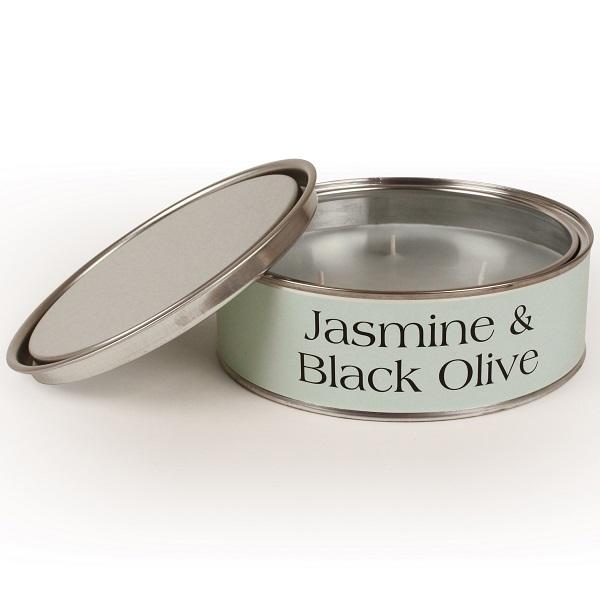 Jasmine and Black Olive Triple Wick Candle