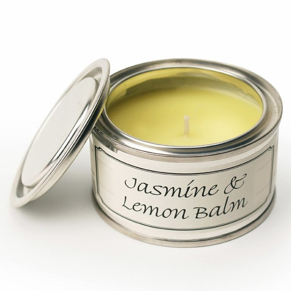 Jasmine and Lemon Balm Paint Pot Candle