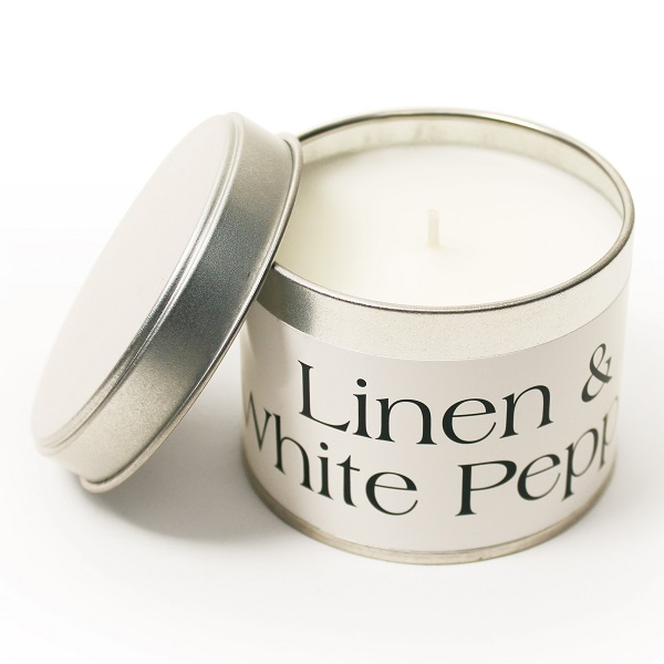 Linen and White Pepper Coordinate Candle S