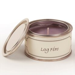 Log Fire Paint Pot Candle
