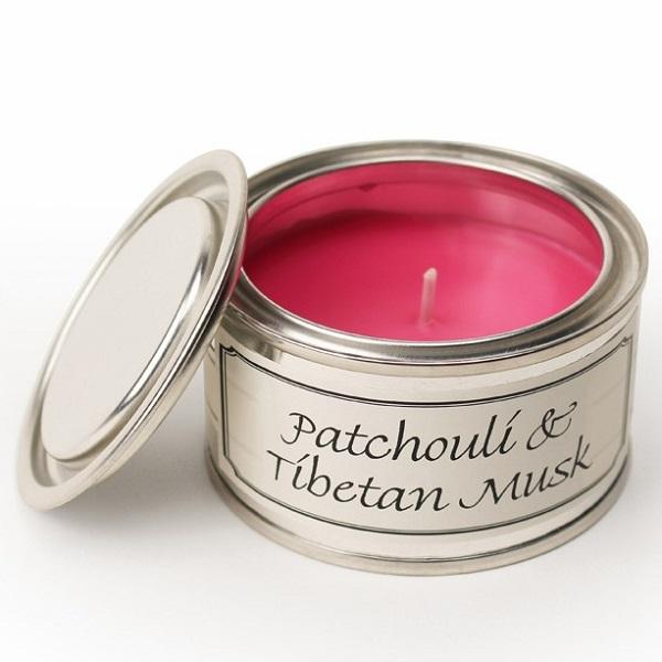 Patchouli and Tibetan Musk Paint Pot Candle