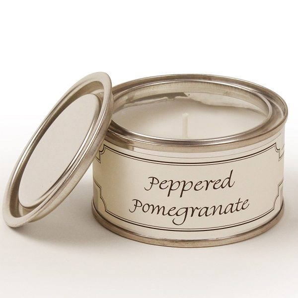 Peppered Pomegranate Paint Pot Candle