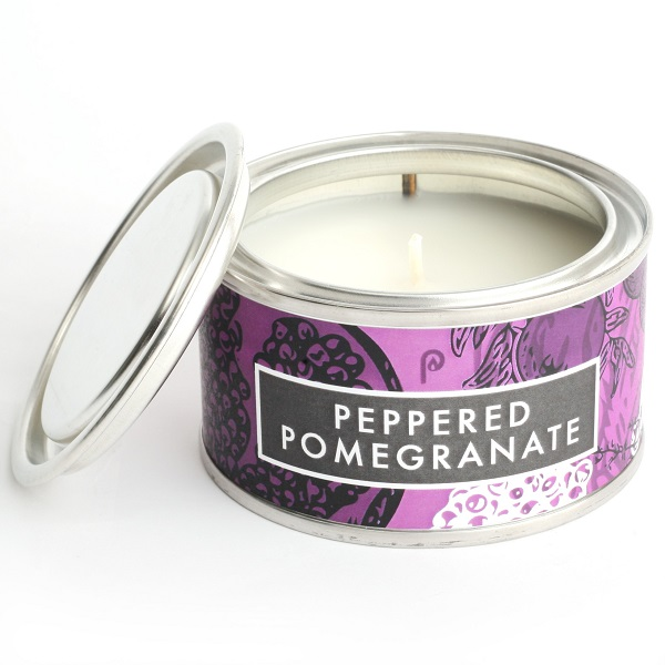 Peppered Pomegrante Elements Candle