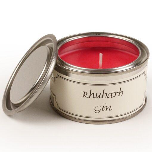 Rhubarb Gin Paint Pot Candle