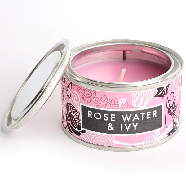 Rosewater and Ivy Elements Candle