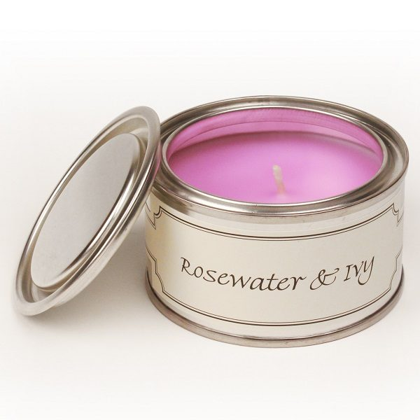 Rosewater and Ivy Paint Pot Candle