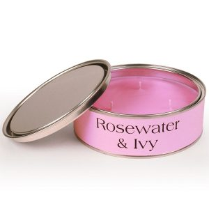 Rosewater and Ivy Triple Wick Candle