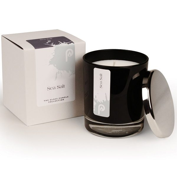 Sea Salt Glass Candle Collection Black Glass