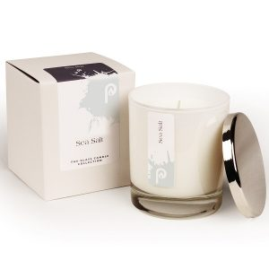 Sea Salt Glass Candle Collection White Glass