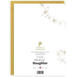 Darling Daughter Back of Greetings Card and Envelope