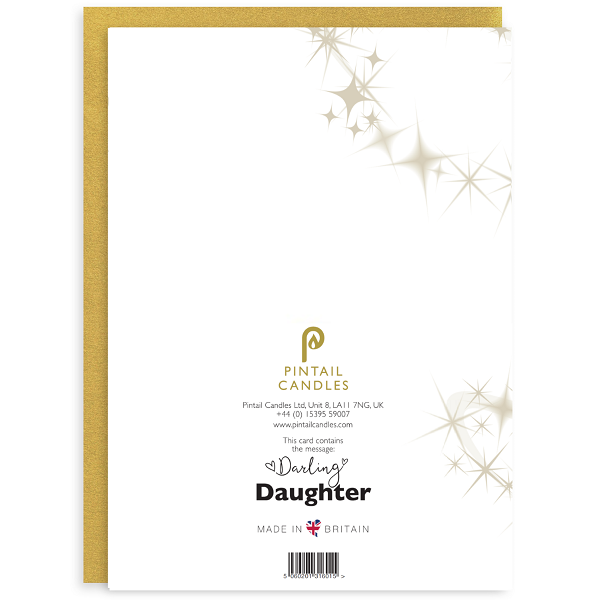 Darling Daughter Back of Greetings Card and Envelope