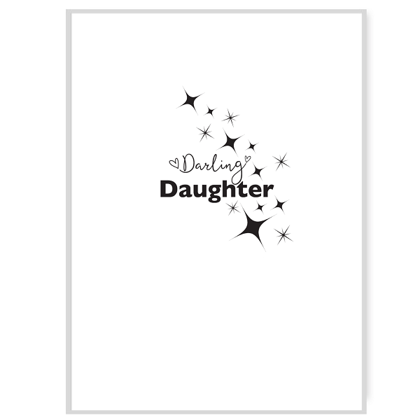 Darling Daughter Greetings Card Inside Message