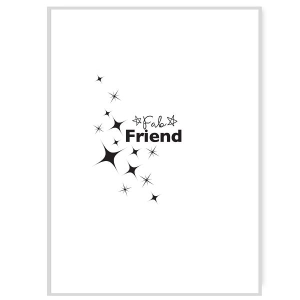 Fab Friend Greetings Card Inside Message