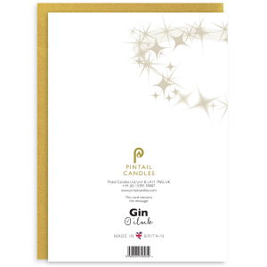 Gin O Clock Back of Greetings Card and Envelope