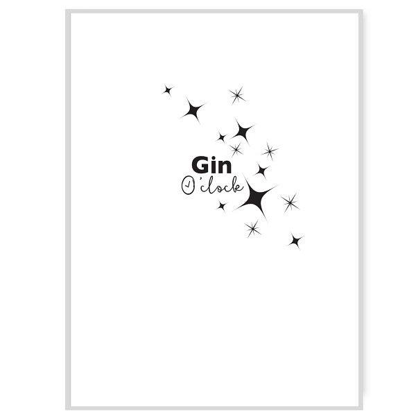 Gin O Clock Greetings Card Inside Message