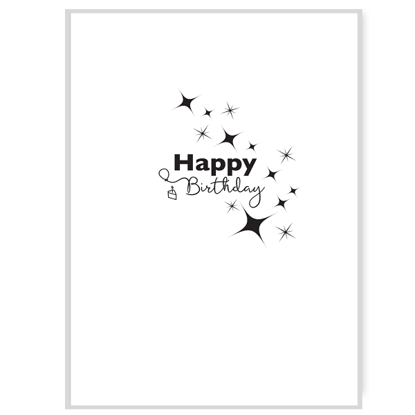 Happy Birthday Greetings Card Inside Message