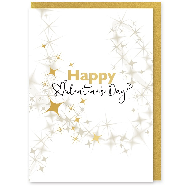 Happy Valentines Greetings Card and Envelope