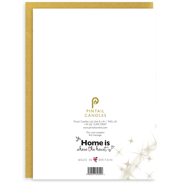 Home is Where the Heart is Back of Greetings Card and Envelope
