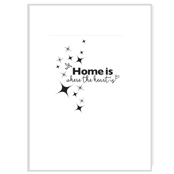 Home is Where the Heart is Greetings Card Inside Message