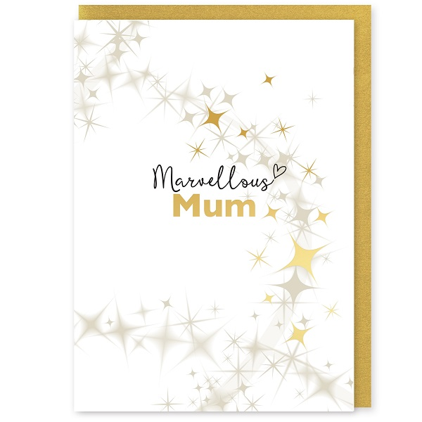 Marvellous Mum Greetings Card and Envelope