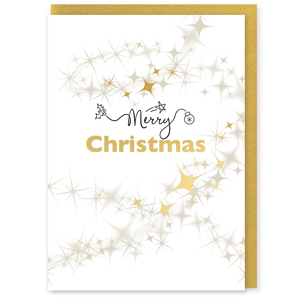 Merry Christmas Greetings Card and Envelope