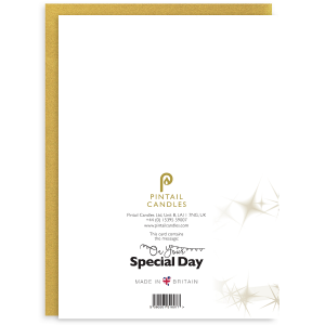 On Your Special Day Back of Greetings Card and Envelope