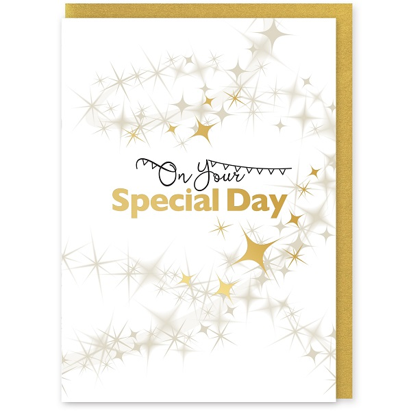On Your Special Day Greetings Card and Envelope