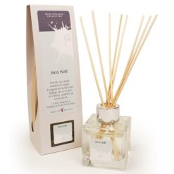 Sea Salt Reed Diffuser showing scent bottle and reeds
