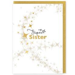 Super Sister Greetings Card and Envelope