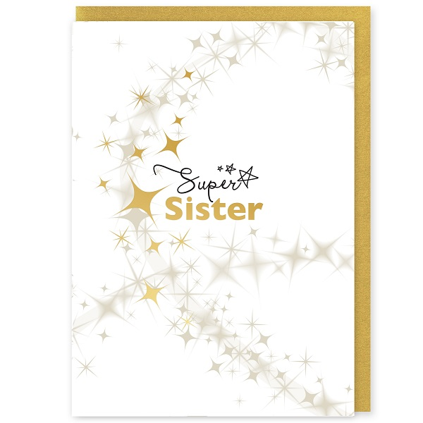 Super Sister Greetings Card and Envelope