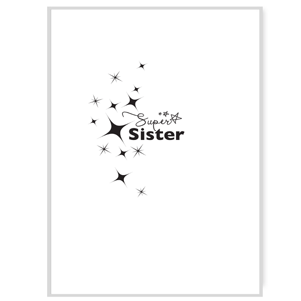 Super Sister Greetings Card Inside Message