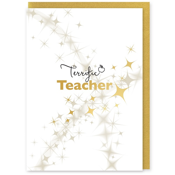 Terrific Teacher Greetings Card and Envelope