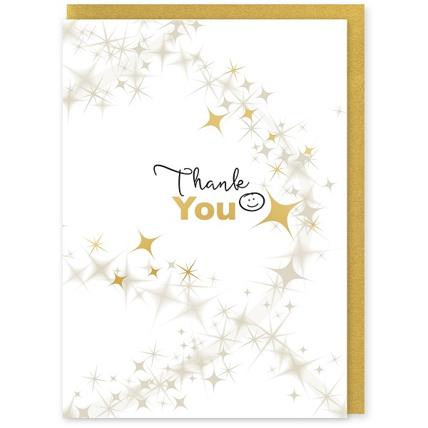 Thank You Greetings Card and Envelope