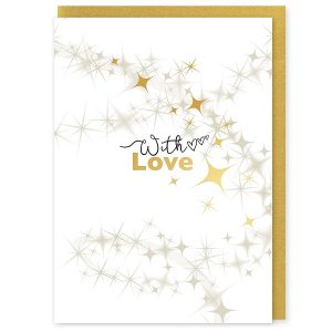 With Love Greetings Card and Envelope