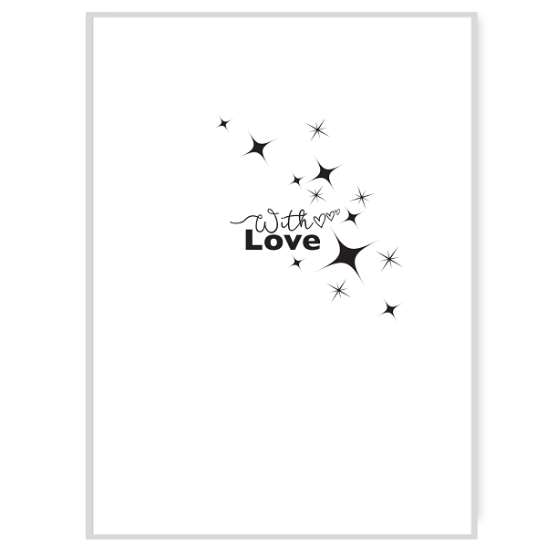 With Love Greetings Card Inside Message