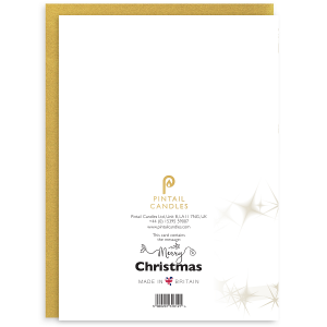 Merry Christmas Back of Card and Envelope