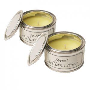 Sweet Sicilian Lemon Paint Pot Candles Duo Pack