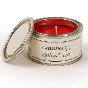 Cranberry Spiced Tea Paint Pot Candle