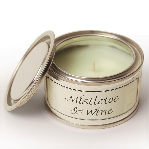 Mistletoe and Wine Paint Pot Candle